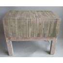 Impressionen Living Tisch Beistelltisch grau Holz