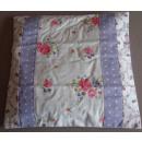 Kissenhülle Blumen flieder weiß rosé Baumwolle