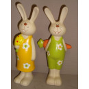 Impressionen Ostern Hasenpärchen Happy Porzellan