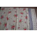 Tischläufer Blumen flieder weiß rosé Baumwolle