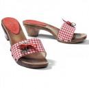 Trachtenschuhe Schuhe Alpenglück rot mit Edelweiss
