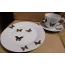 Kaffeeservice Mariposa Schmetterlinge Porzellan