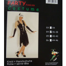 Fasching Karnveval Kleid Twenties Charleston 40/42