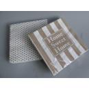 Servietten Set Sweet Home 40 Stück braun weiß