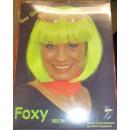 Fasching Karneval Perücke Foxy neongrün