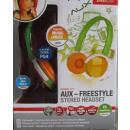Speedlink Stereo Kopfhörer orange grün AUX Freesty