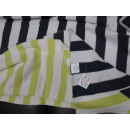 Plaid Decke blau gelb weiss gestreift Baumwolle