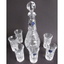 Russisches Bleikristall Set 6 Gläser & Karaffe