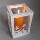 Großhandel Windlichter & Laternen: Ostern Dekoration Windlicht weiß Holz