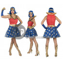 Verkleidung Super Woman Frau Größe S / M