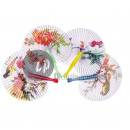 wholesale Costume Fashion: Chinese motif fan MIX 25cm