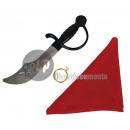 set pirate bandana sword and earring 3pcs