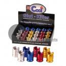spegni sigaretta in metallo colorato MIX