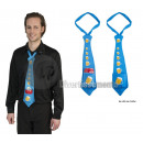 wholesale Ties: BLUE tie with beer pattern with drink holder pocke