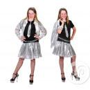 Großhandel Fashion & Accessoires: Pailletten-Rock Mädchen SILVER One Size
