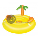 wholesale Garden playground equipment: giant inflatable mattress YELLOW ISLAND with palm
