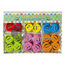 wholesale Office Furniture: set of 4 erasers smiley patterns MIX 2.5cm
