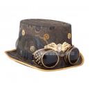 Großhandel Fashion & Accessoires:Steampunk Zylinder BRAUN