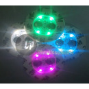 wholesale Drinking Glasses: set of 4 light tablets under glass 4 LED's R