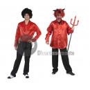 Großhandel Hemden & Blusen: RED Disco Shirt Mann Größe M / L