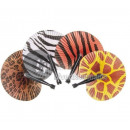 wholesale Costume Fashion: Wild animal motif fan MIX 25cm