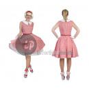 Pinkes Rock Kostüm für Damen Größe XL