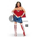 Großhandel Kinder- und Babybekleidung: Sexy Wonder Woman ™ Kostüm für Frauen Größe XS