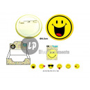 wholesale Accessories & Spare Parts: brooch pins Smiley MIX 4.5cm
