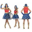 verschleiern Super Woman Frau Größe XL