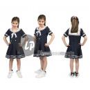 Großhandel Kinder- und Babybekleidung: Mädchen Seemann Kostüm Größe 128cm