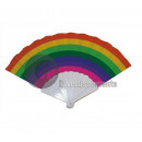 wholesale Costume Fashion: fan color plastic rainbow 25cm