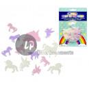 assortment of fluorescent phosphorescent unicorns