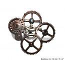 Großhandel Zubehör & Ersatzteile: brosche metal steampunk patterns gears 8x7cm