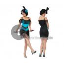 Großhandel Kleider: Charleston Kleid blau und schwarz 2 Stück Größe L