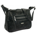 Damenhandtasche Handtasche Tasche Leder schwarz