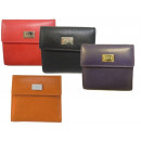 Großhandel Geldbörsen: kleine Damenbörse mit Flügelwand und Logo