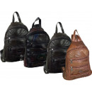 wholesale Backpacks: Backpack made of  STEFANO patch leather