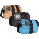 Handbag bag made of crinkle nylon STEFANO
