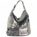 Hobo Damenhandtasche Handtasche Tasche silber