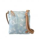 Großhandel Handtaschen: Umhängetasche -Schmetterling Design in Jeans blau