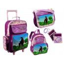 groothandel Koffers & trolleys: 4 stuks. Kinderen  reizen set met paard motief
