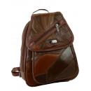 Großhandel Handtaschen: Rucksack Backpack Tasche mit Überschlag STEFANO