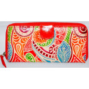 RED LEATHER WALLET 20CMX10CMX3CM