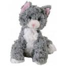 Plush cat sitting gray 23cm