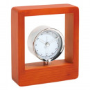 Clock in real wood frame