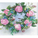 "wholesale Artificial Flowers: Wreath ""rose pink"""