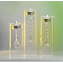 wholesale Candles & Candleholder: Glass candle holder with crystals