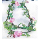"wholesale Artificial Flowers: Garland ""rose pink"""