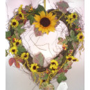 Großhandel Kunstblumen:Sonnenblumenkranz