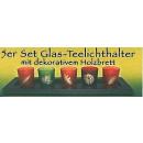 Set van 5 glazen theelichthouder